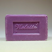 100 Gramme Bar of Olive Oil Based Soap, Violet Scented