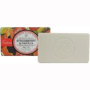 Strawberry Papaya 200 G Wrapped Soap Bar Tropical Fruits
