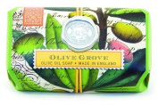 Michel Design Works Over-size Scented Triple-milled Bath Soap Bar, Olive Grove, 220ml