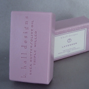 k. hall designs Lavender Triple Milled Shea Butter Bar Soap
