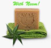 """Neem Oil ~ Karanja ~ Lemon Grass ~Flax Seed Soap """"White Linen"""""""