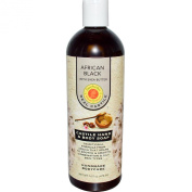 African Black Liquid Soap Natural Sunfeather 470ml Liquid