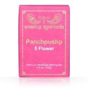 Amazing Ayurveda Premium Handmade- Panchpushp (Five Flower) Soap, 130ml