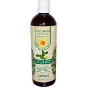 Peppermint Vanilla Liquid Soap Natural Sunfeather 470ml Liquid