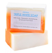Kojic Acid, Placenta, & Glutathione Triple Whitening/bleaching Soap Appx. 150gms