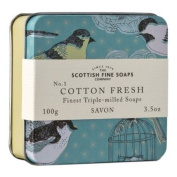 Scottish Fine Soaps Vintage Cotton Fresh Soap Tin 100g