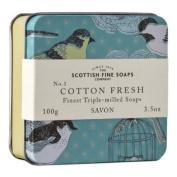 Scottish Fine Soaps Vintage Cotton Fresh Soap Tin 100g