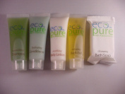 Eco Pure Travel set Shampoo, Conditioner, Lotion, Bath Gel, and Soap