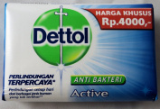 Dettol Anti-Bacterial Hand and Body Bar Soap, Active, 110 Gr / 110ml