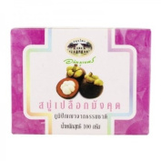 Abhaibhubejhr Mangosteen Rind Soap 100 g. Product From Thailand - 3 Bars