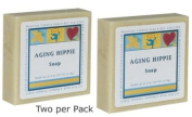 Ageing Hippie Natural Patchouli, Olive & Cocoa Butter Soap - 180ml - Pack of 2