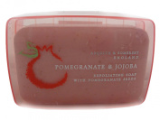 Asquith & Somerset Pomegranate & Jojoba Exfoliating Soap with Pomegranate Seeds