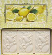 Saponificio Artigianale Fiorentino Green Tea & Lemon Soap Set From Italy