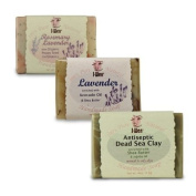 I-Wen Dead Sea Clay, Lavender & Rosemary Lavender handmade soap set