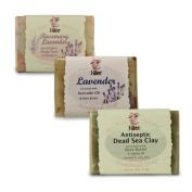 I-Wen Dead Sea Clay, Lavender & Rosemary Lavender handmade soap set