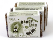 Dandy Lion Traditional African Black Soap with Shea Butter Fair Trade 3 Bars