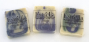 Handmade Natural Vegan Soap 3 Bars Lavender, Lavender Eucalyptus, Lavender Mint