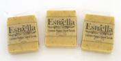 Handmade Natural Vegan Soap 3 Bars Lemon Poppy Seed Scrub