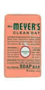 Mrs. Meyer's Clean Day Bar Soap, Geranium, 227 g Bars
