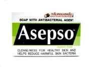 4 Asepso Hygienic Fresh Antibacterial Body Cleansing Soap Mangosteen Extract Product of Thailand