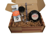 Simply Beautiful Shaving Gift Set with Merkur Razor, Stand, Brush, and Omega Soap