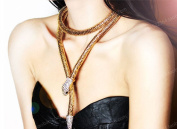 Highwinwin Sexy Temptation Flexible Bendable Snake Jewellery Necklace Choker Bracelet Scarf Holder Bendy Chain Twistable Shape Design as Waistband Belt.