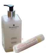 Pecksniff's Hand Wash 500ml Gardenia & White Peach + Vegan Organic Lip Balm in Spearmint