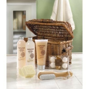 Sandalwood Naturals Spa Basket Lotion Scrub Crystals