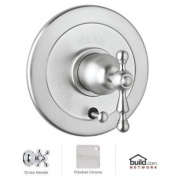 Cisal Bath Collection VOLUME CONTROL PRESSURE BALANCE TRIM WITH DIVERTER Cross Handle