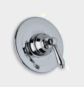 Rohl A1400XC Country Bath Shower Valve Trim (Trim Only) with Swarovski Crystal Cross Handle, Polished Chrome