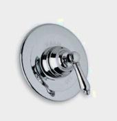 Rohl A1400XC Country Bath Shower Valve Trim (Trim Only) with Swarovski Crystal Cross Handle, Polished Chrome