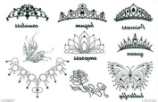 Aterproof Temporary Tattoo Female Crown Tattoo Stickers