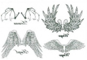 Black and White Angel Wings Totem Tattoo Sticker