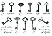 The Black and White Letter Keys Totem Temporary Tattoo