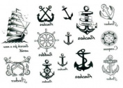Emporary Tattoo Waterproof Anchor Nautical Tattoo Stickers