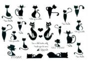 Men and Women Waterproof Temporary Tattoo Kitten Series Tattoo Sticker
