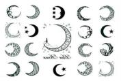 Moon of Men and Women Waterproof Tattoo Sticker