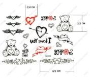 Newly Designed Waterproof Tattoo Sticker for Women for Sweethearts