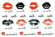 Tattoo Stickers Waterproof Female Models Kiss the Lip Print Totem Temp Tattoos