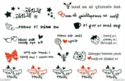 Tattoo Stickers Waterproof Lovely the English Wings Temporary Tattoos