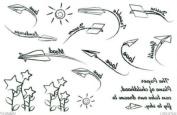 Waterproof Temporary Tattoo Paper Aeroplane Tattoo Stickers