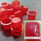 1000pcs Medium Tattoo Red Ink Cups Plastic Caps for tattoo especially