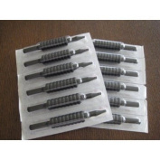 (40) X sterilised ASSORTED (ROUNDS/MAGS/FLATS) TUBES WITH BLACK RUBBER GRIPS 1.9cm , Grip-40-M34