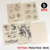 5pcs Lot Assorted Tattoo Practise Skin Mix Sheets 20cm x 15cm