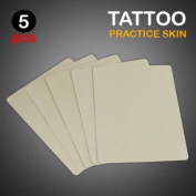 NEW 5pc Lot Tattoo Practise Skin 8x6 Blank Plain Sheets
