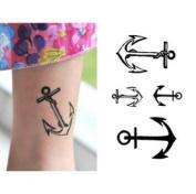 """Ship Anchor"" Temporary Tattoo Waterproof Body Tattoo Stickers 2pcs/set"