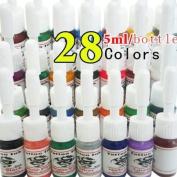 28 Colour Tattoo Ink 5ml(1/6oz) Each Tattoo Pigment High Quality Tattoo Supplies Tattoo Products MGI-3