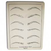 Getbetterlife 4 Tattoo Makeup Eyebrow Practise Skin for Needles with black picture