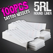 100pcs 5RL Disposable Sterile Tattoo Needles 5 Round Liner Supply Set