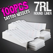100pcs 7RL Disposable Sterile Tattoo Needles 7 Round Liner Supply Set